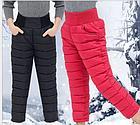 Детские теплые штаны, цвет черный, на 3 годика, фото 2
