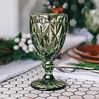 Набор фужеров для напитков с рельефным декором 320 мл. зеленый (6 шт.), фото 2