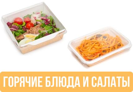 Упаковка для салатов и горячих блюд