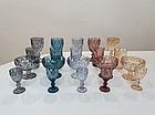 Набор фужеров для напитков с рельефным декором 320 мл. золотистый (6 шт.), фото 3