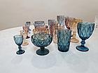 Набор фужеров для напитков с рельефным декором 320 мл. золотистый (6 шт.), фото 4