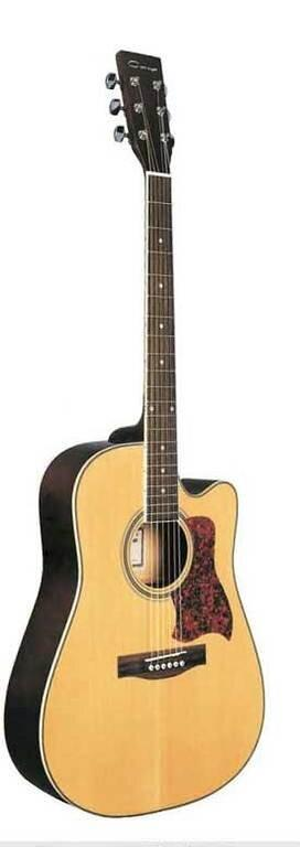 Акустическая гитара, с вырезом, цвет натуральный, Caraya F641