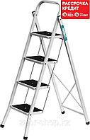Лестница-стремянка стальная c широкими ступенями, 4 ступени, СИБИН (38807-04_z01)