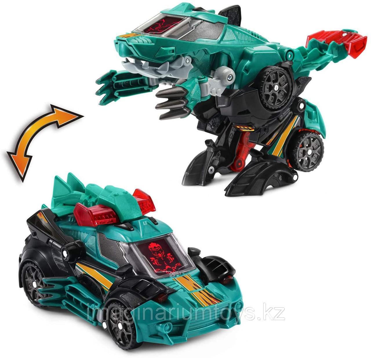 Игрушка трансформер динозавр-машинка VTech Велоцираптор Switch&Go