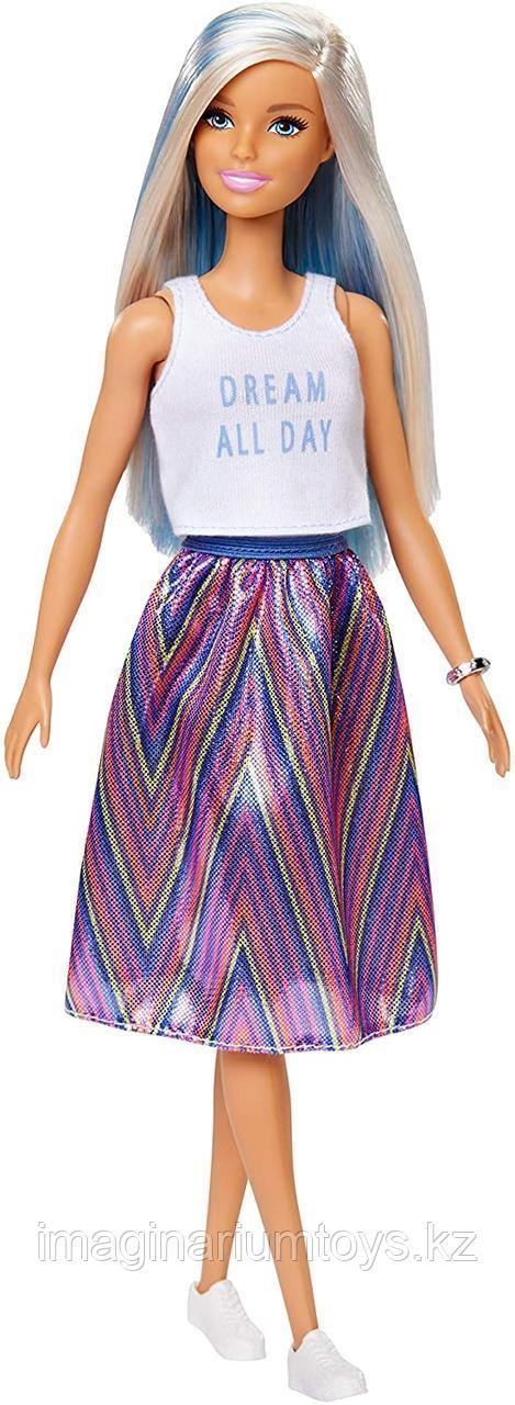 Кукла Барби модница с цветными прядями #120
