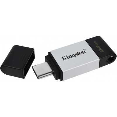 Kingston DT80/128GB USB-накопитель DataTraveler 80 USB-С 128GB металл