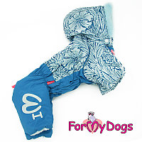 FW836-2020 M, For My Dogs, Фор Май Дог, Зимний комбинезон голубой, для мальчиков