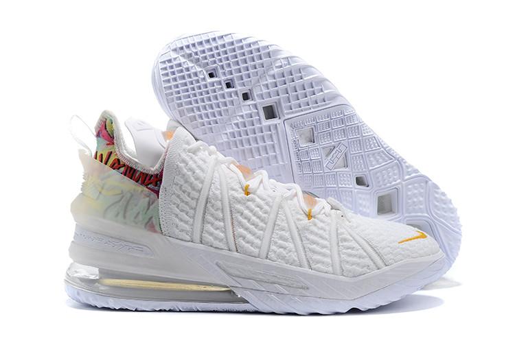 Баскетбольные кроссовки Nike LeBron 18 ( XVIII) White - фото 1