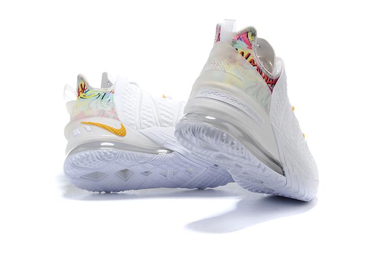 Баскетбольные кроссовки Nike LeBron 18 ( XVIII) White - фото 3