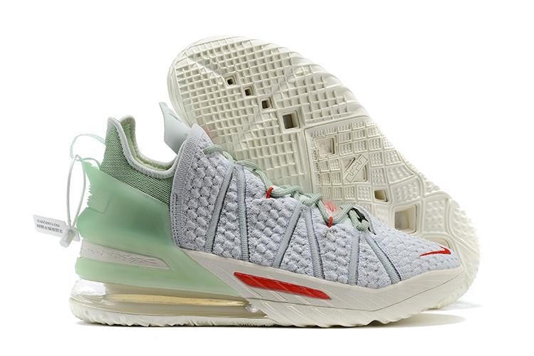 Баскетбольные кроссовки Nike LeBron 18 ( XVIII) Gray - фото 1