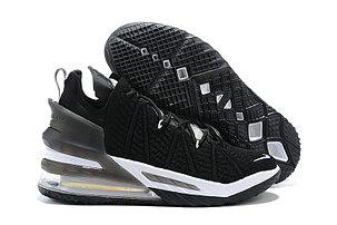 Баскетбольные кроссовки Nike LeBron 18 ( XVIII) Black\White, фото 2