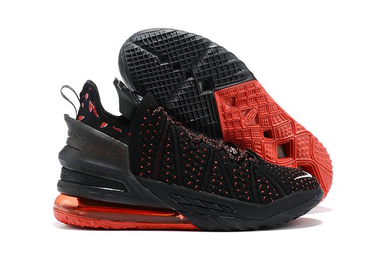 Баскетбольные кроссовки Nike LeBron 18 ( XVIII) Black\Red - фото 1