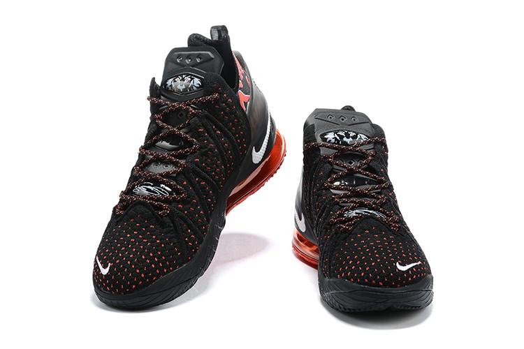 Баскетбольные кроссовки Nike LeBron 18 ( XVIII) Black\Red - фото 3