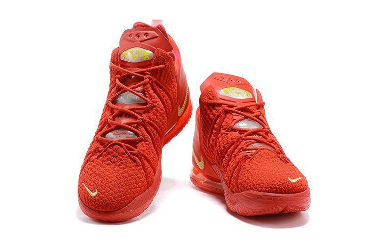 Баскетбольные кроссовки Nike LeBron 18 ( XVIII) Red (36-46) - фото 2