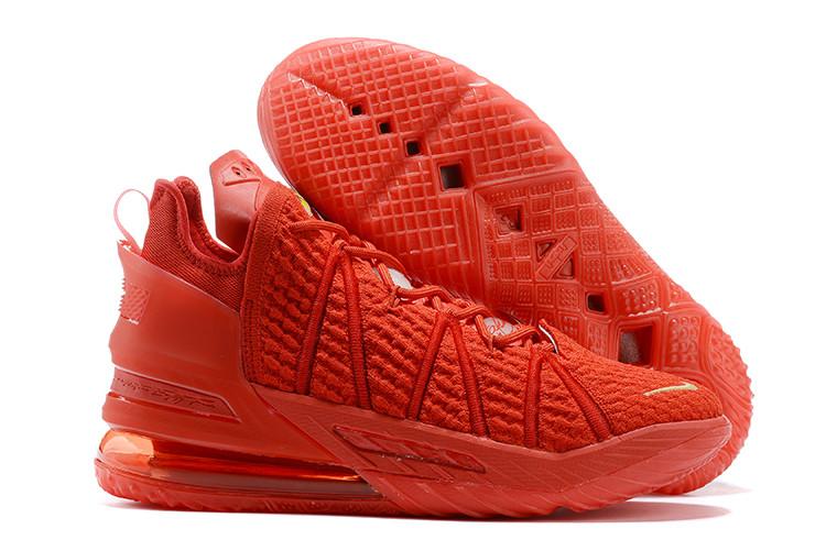 Баскетбольные кроссовки Nike LeBron 18 ( XVIII) Red (36-46) - фото 1
