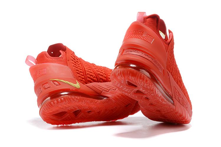 Баскетбольные кроссовки Nike LeBron 18 ( XVIII) Red (36-46) - фото 3