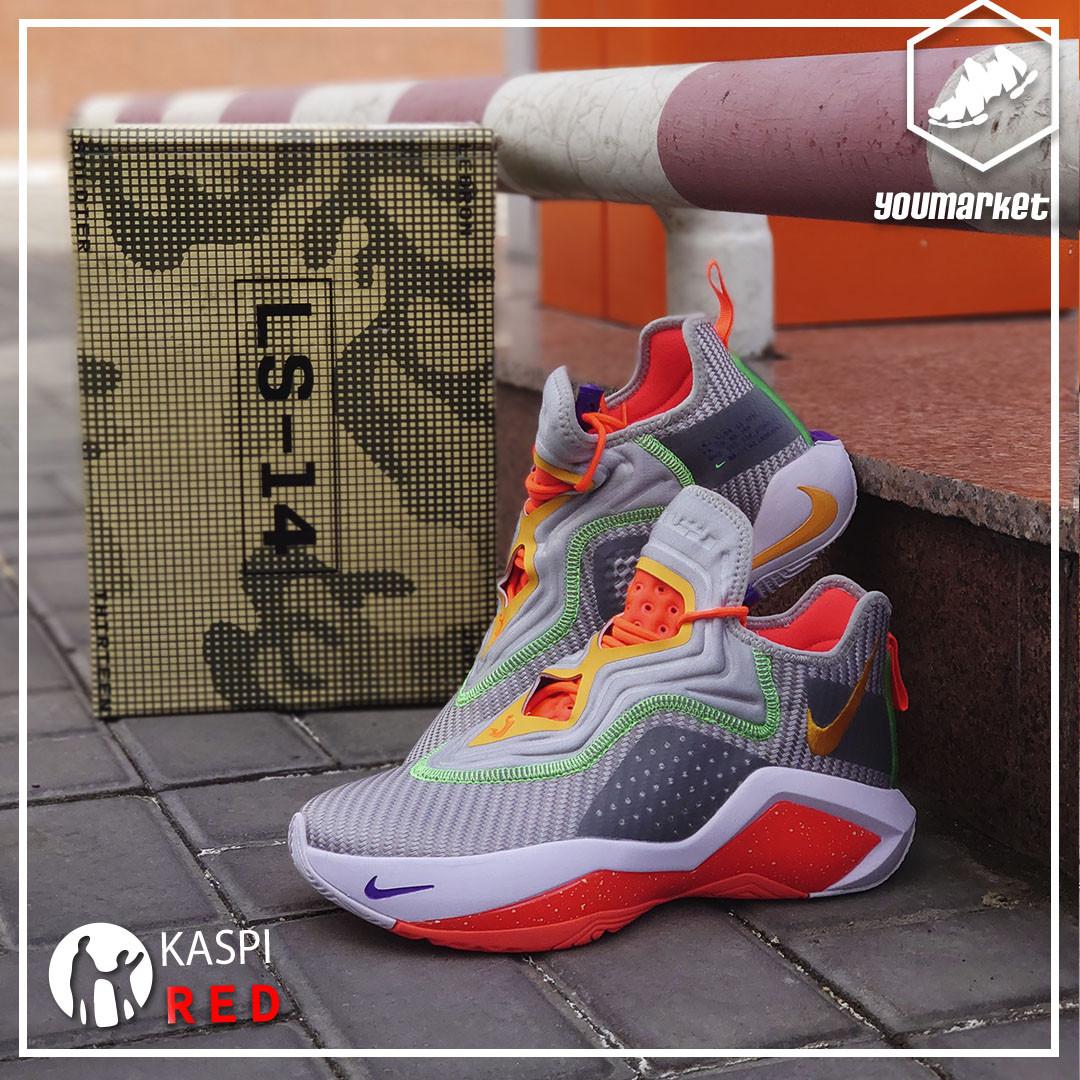 Баскетбольные кроссовки Nike LeBron Soldier 14 ( XIV ) Gray\Orange 36-46 - фото 1