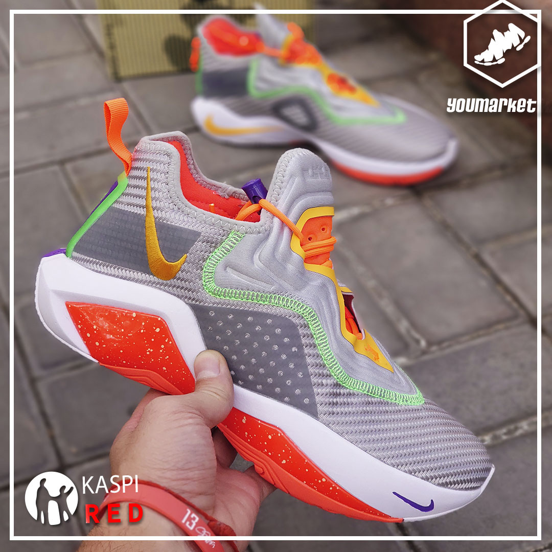 Баскетбольные кроссовки Nike LeBron Soldier 14 ( XIV ) Gray\Orange 36-46 - фото 3