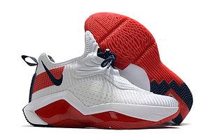 Баскетбольные кроссовки LeBron Soldier 14 ( XIV ) White\Red, фото 2