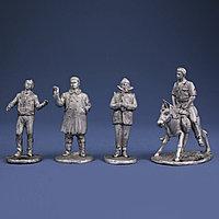 Операция Ы. Коллекция миниатюрных скульптура из олова.