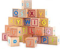 Кубики с английским алфавитом