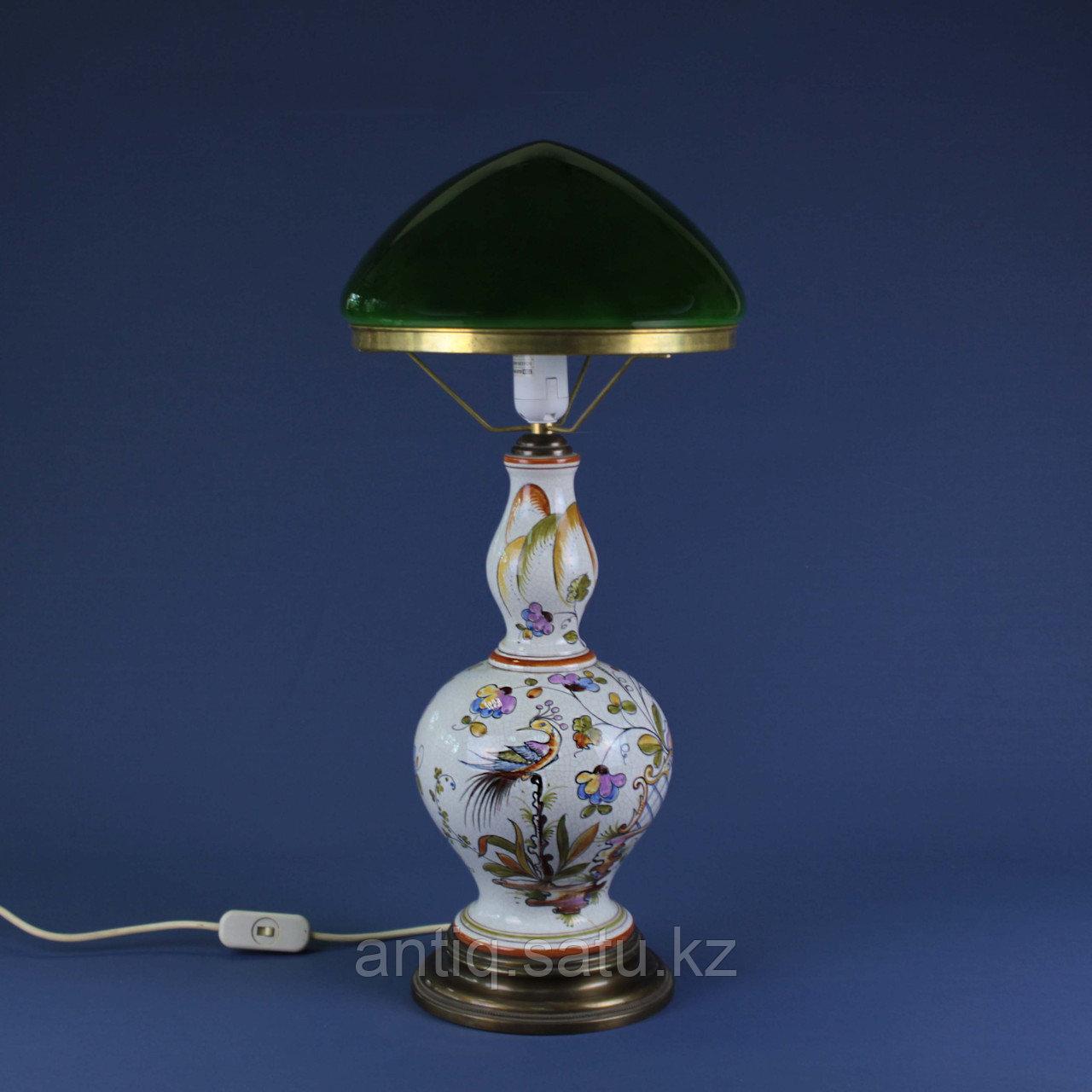Лампа из итальянской мойолики. - фото 1