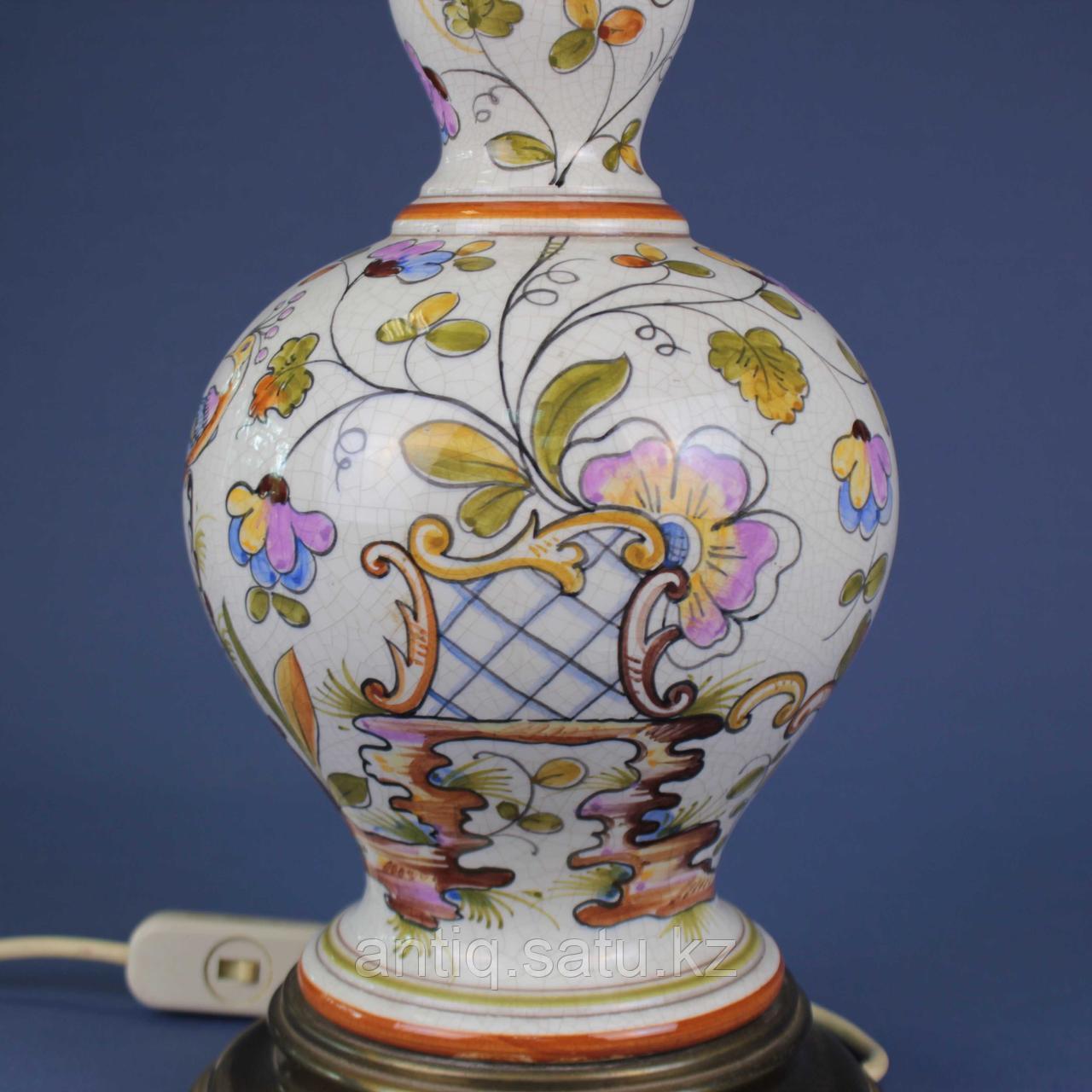 Лампа из итальянской мойолики. - фото 2
