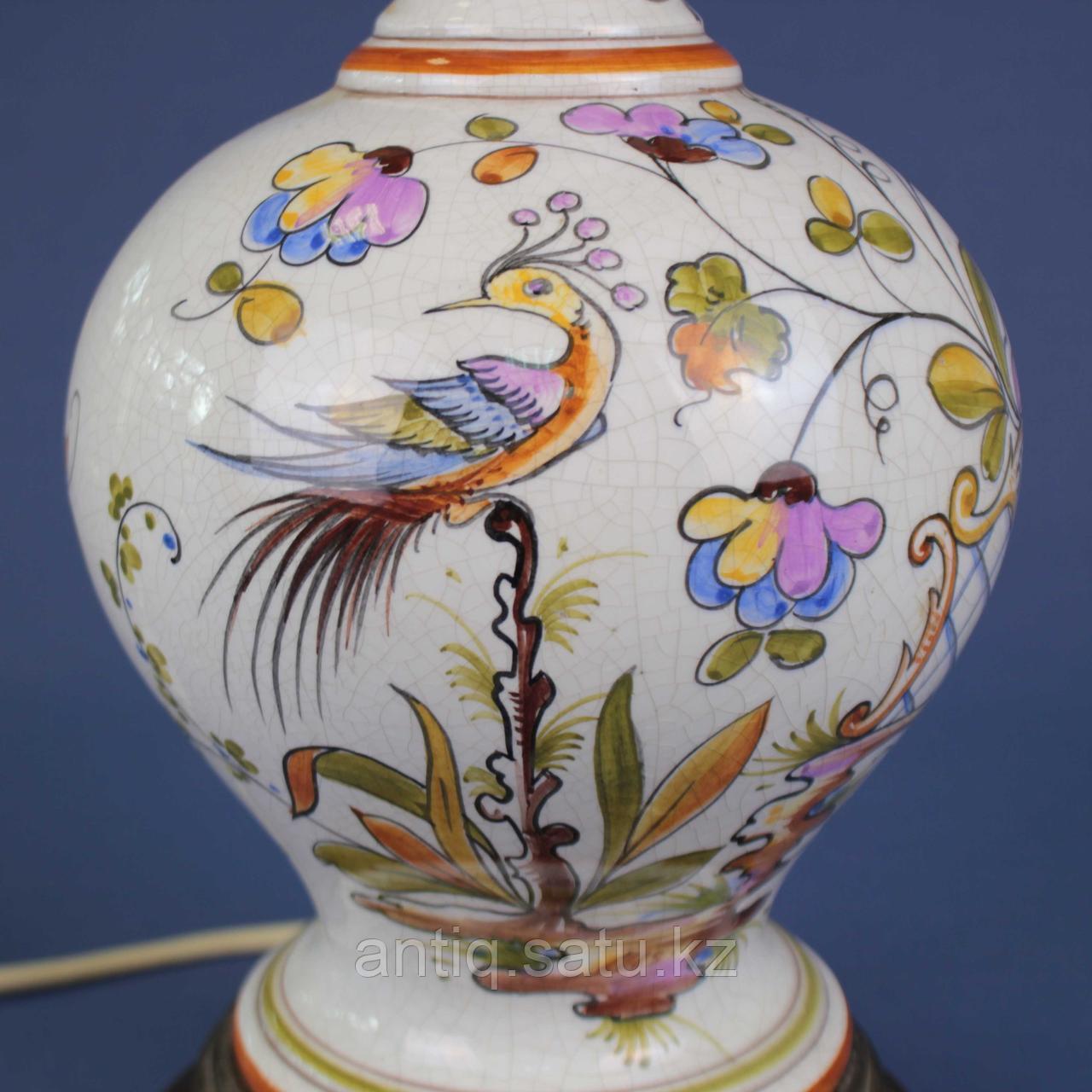 Лампа из итальянской мойолики. - фото 3