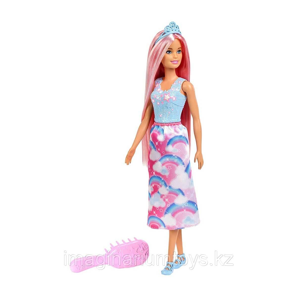 Кукла Барби принцесса с розовыми волосами