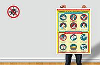 Информационные наклейки, плакаты, стикеры по профилактике коронавирусной инфекции