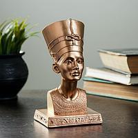 """Фигура """"Нефертити"""" , гипс, цвет бронза 17см"""