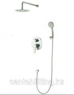ZERIX LR2403-2 Душевая система (встраиваемая) со смесителем и тропическим душем  (4 шт/ящ)