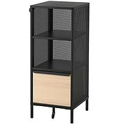 БЕКАНТ Модуль для хранения, на ножках, сетка Черный, 41x101 см