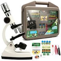 Микроскоп с набором для био-исследований в кейсе «DISCOVERY» {1200х, 400х, 100х}