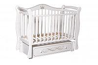 Детская кроватка Антел Julia 11 белая, универсальный маятник, фото 1
