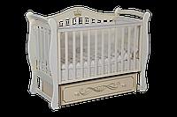 Детская кроватка Антел Julia 11 слоновая кость, универсальный маятник, фото 1