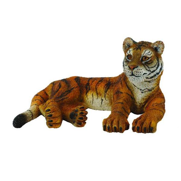Collecta Фигурка Сибирский Тигренок лежащий, 8 см.