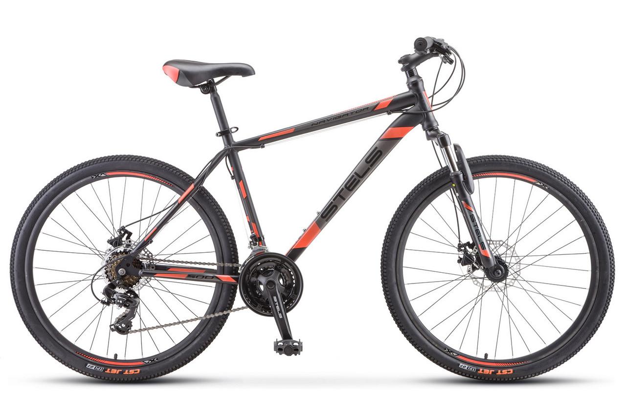 Велосипед Stels Navigator 500 MD Черно-красный. 20 рама