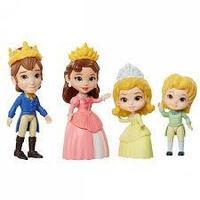 Disney Princess 012570 Принцессы Дисней Набор 4 куклы София Прекрасная Семья 7,5 см