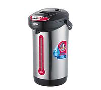 Термопот Centek CT-0080 Black 3л, 600Вт, 3 способа подачи воды, корпус из нержавеющей стали