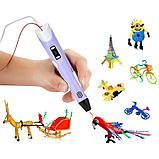 3D Ручка 3-го поколения с трафаретами и пластиком в комплекте., фото 3