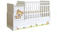 Кроватка трансформер Фея 1100 Медвежонок