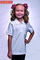 Детская футболка - поло. Белая.