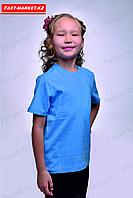 Детская футболка. Голубая.