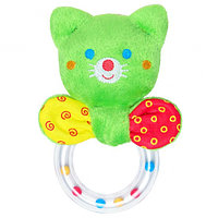 Погремушка котик кольцо