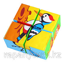 Кубики детские птицы