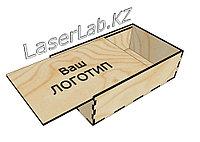Деревянный ящик, подарочная коробка из фанеры с выдвижной крышкой, внутр. размер:34*20*10см. (6мм)