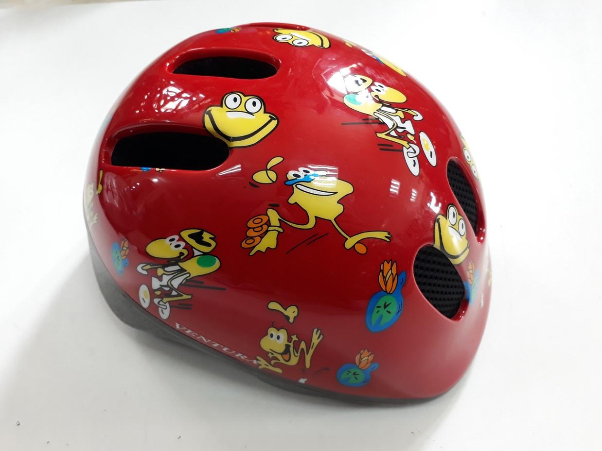 Детский велосипедный шлем Бренд Ventura. Немецкое качество. Размер 52-57 S. Kspi RED. Рассрочка.