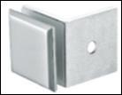 Коннектор-крепеж стекло-стена SS304 T=8mm, Глянцевый, на 90*