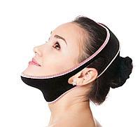 Бандаж косметический, для подтяжки овала лица, от второго подбородка, нейлон, фото 1